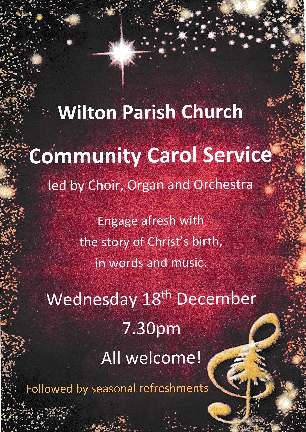 Carol Service Poster
